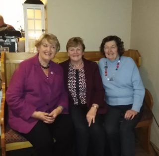 Nora Owen, former Minister for Justice and grandniece of Michael Collins and Eileen O'Connell and Bernadette Forde, both of Killererin Heritage Society   Eileen O'Connell, Killererin Heritage Society