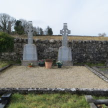 Graves 11 a & 11B - Hanratty Gilmore plot (2 double plots) kerbed as one | Bernadette Forde, Killererin Heritage Society