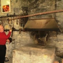 Our guide Jimmy Noone demonstrating the use of the bellows | Bernadette Forde