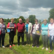 Some of the group in the walled garden with our guide | Bernadette Forde