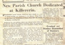 Dedication of St. Mary's Church, Killererin in 1962