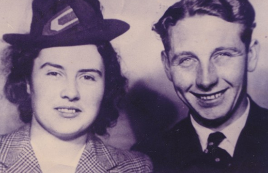 Mai and Patrick Coen shortly after their marriage in 1944 | Out and About in Killererin