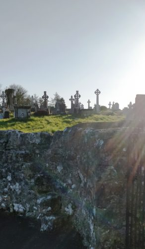 Mass Stile to old medieval church and graveyard | Photo: Seamus Morrissey April, 2020
