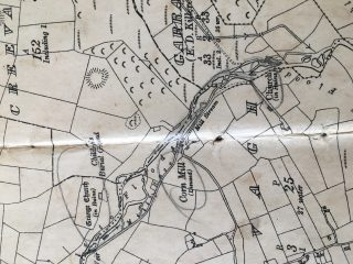 OS Map sheet 44 showing the location of ruins of Grange Church | Photo: B. Forde, May 2020