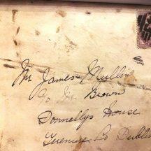 Front of envelope posted from Ballyglunin in 1898 | J. Lennon, Dundrum, Co. Dublin