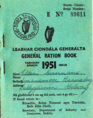 Ration book belonging to Eileen Cunnane | John Cunnane