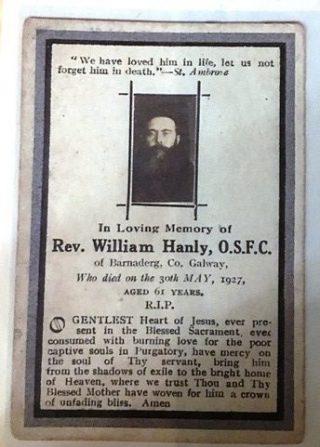 Rev. William Hanly, O.S.F.C., Barnaderg | Photo: Sylvester Cassidy