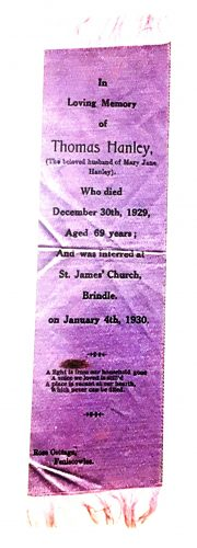 Memoriam bookmark for Thomas Peter Hanely | Photo: Sylvester Cassidy