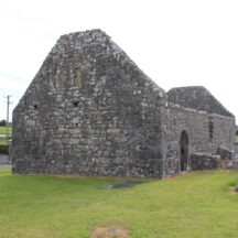 Ruins of old church in Creevaghbawn cemetery   Photo: B. Connolly