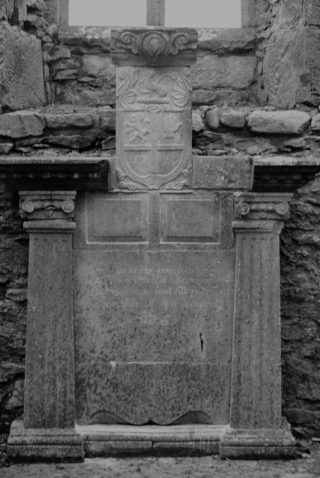 Burke wall tomb. This tomb has obviously reassembled. some pf the decorative stonework form the top is missing. The rest was put together in a slightly jumbled fashion.  | Christy Cunniffe