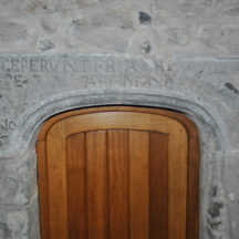 Inscribed doorhead in Meelick Friary, Co. Galway.   Christy Cunniffe