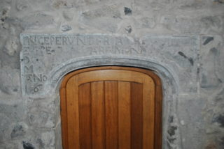 Inscribed doorhead in Meelick Friary, Co. Galway. | Christy Cunniffe
