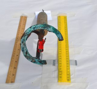 Large letter C for Cannon with traces of blue paint.   Christy Cunniffe