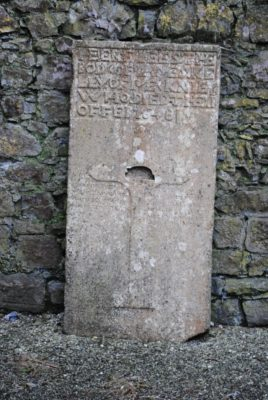 Kelly of Mackney grave-slab at Clontuskert priory. | Christy Cunniffe