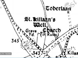 Cassini Map showing Holy Well locations  | Ordnance Survey Ireland