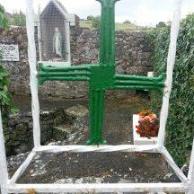 St. Brigid's Cross on the gate   B. Doherty 2020
