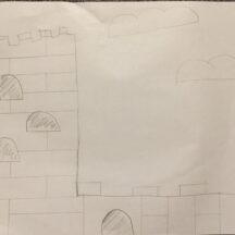sketch of Loughrea Castle | Elizabeth, Age 12
