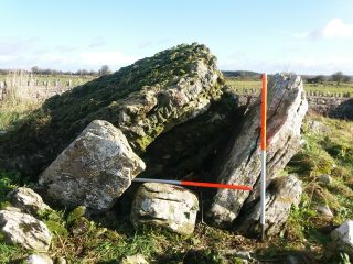 Looking East showing Ballinastack Megalithic Monument  | B. Doherty 2020