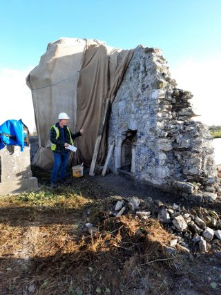 Chancel wall restoration works | M. Mannion 2020