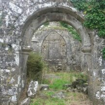 Medieval arched doorway, Ballinakill   B. Doherty 2020