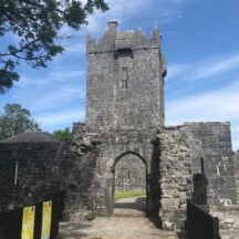 Aughanure Castle is a 16th Century O'Flaherty stronghold, built near Oughterard.   Andrea Deacy