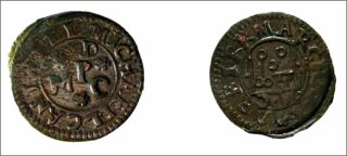 Showing front and back of circular token used for trading purposes in seventeenth century Ballinalso | Atlantic Archaeology