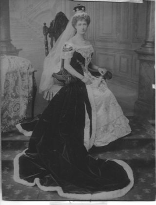 Violet Ashtown wearing Peers Robes for coronation of Edward VII, 1903 | Lafayette, Courtesy of Roderick Ashtown
