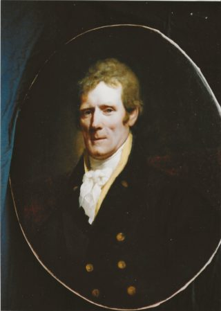 Portrait of Lord AShtown, red hair, white shiirt, double breasted jacket | Roderick Ashtown