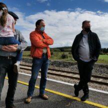 People standing on platform at station   M. Kenny