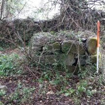 Altar type structure at western end of Teampall Beag enclosure | Moycullen Heritage