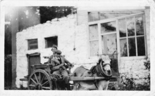 Paul and his mum on Pat Hurney's Cart at Annagh | Imelda Cribbin