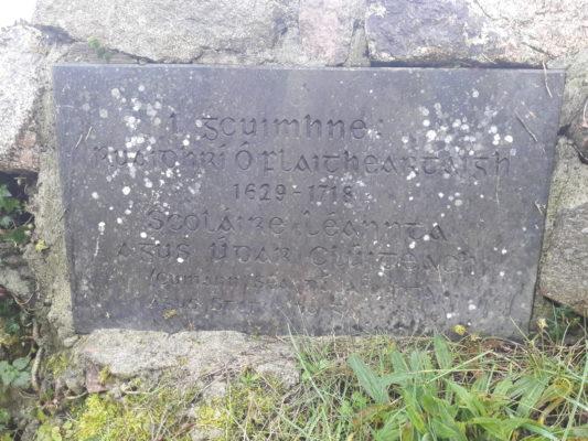 Plaque at Páirc Lár, Spiddal | Moycullen Historical Society