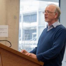 Nollaig Ó Muraíle addresses seminar in NUIG | Seán Ó Mainnín