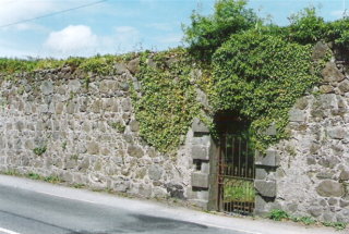 Still extant gate at walled garden of Danesfield Estate, Moycullen | Moycullen Historical Society