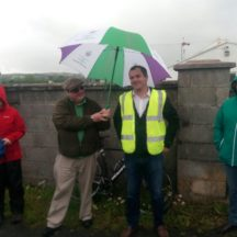 Cllr Noel Thomas launches Moycullen's Mini Burren Heritage Trail at the Rocks Road | Moycullen Historical Society