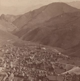 Virginia City from Mt Davidson sometime between 1880 and 1888 | Photo Courtesy of the California History Room, California State Library, Sacramento, California