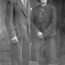 Thomas O'Connor of Knockarasser and Julia Kelly of Loughwell c1945 | Photo Courtesy Bridie Walsh