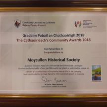 Moycullen Historical Society pick up theawardfor