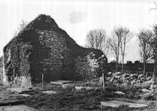 Ruins of Old Church, Moycullen (Sean Relig) mentioned in h-Iar Connaught. The adjoining graveyard contains O'Flaherty grave slab with family crest inscribed.   | T.McMahon