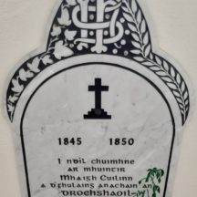 Famine Memorial at the Church of the Immaculate Conception Moycullen | Photo Moycullen Heritage