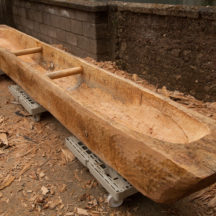 The finished replica Lee's Island Log boat | Photo Credit:  Brian MacDomhnaill