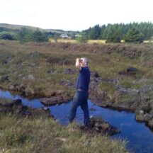 Don Bailey and his son Ryan from Texas have no links to Moycullen but contacted our society after reading an article on our website and asked if we could arrange a visit to a bog for them | Moycullen Heritage
