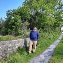 Paul Browne visits from Caerphilly, Wales. His Walsh ancestors came from Currawatia. | Moycullen Heritage