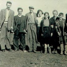 John Conneely, Dan Geraghty, Jimmie, Maggie Conneely, Maisie McDonagh, Julia Conneely,(Mother), Tommy McDonagh and Willie Conneely | Photo courtesy John Conneely