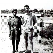 John Conneely and his bodyguard, Kano Nigeria, !960 | Photo courtesy John Conneely