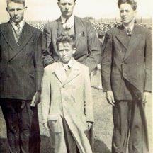 Raymond Sullivan, Willie and John Conneely and Jackie McDonagh | Photo courtesy John Conneely