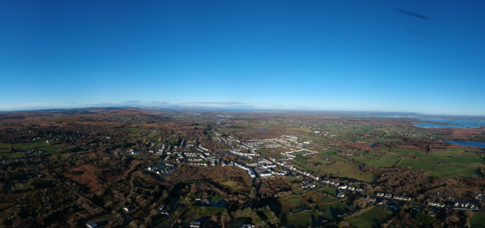 Aerial View of Moycullen | Photo Copyright and Courtesy of Brian Wall