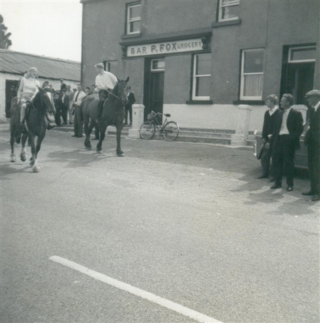 Launch of Moycullen Pony Trekking 18 June 1967.  Trek moving out with John Clancy leading | Photo courtesy John Cunningham