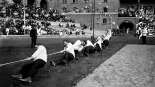 Team Great Britain -v- Sweeden at Stockholm Olympics 8 July 1912 | https://www.coachmag.co.uk/sport/5631/strange-games-unusual-and-discontinued-olympic-sports