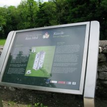Interpretive signage in Rinville Park
